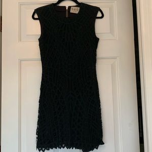 Sea New York Black Lace Overlay Dress